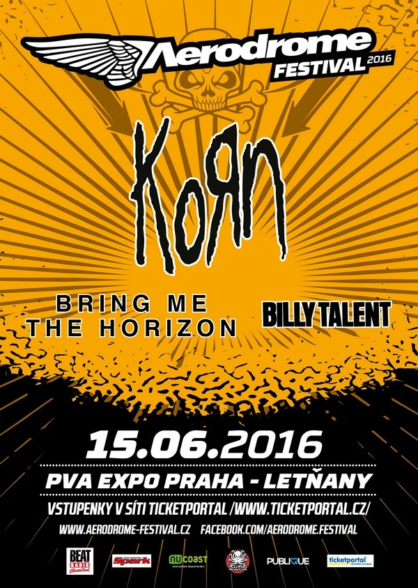 Hvězdami Aerodromu budou BRING ME THE HORIZON a BILLY TALENT