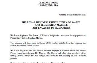 Britský princ Harry se bude ženit, vezme si herečku Markleovou