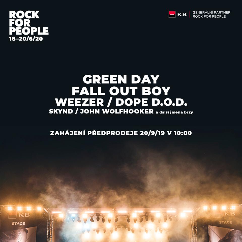 Rock for People ohlásil první hvězdy na rok 2020!