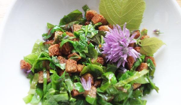 Lipový salát s krutony