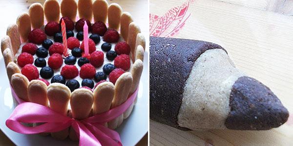 Sladké tipy na den dětí: Domácí mandlové těsto, ovocný piškotový dort