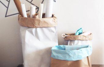 Jak skladovat neforemné věci? Udělejte si papírové pytle
