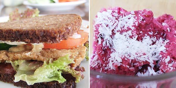 Tofuburger – zdravější varianta hamburgru, sójová ovocná zmrzlina