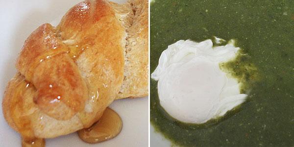 Jidáše ze špaldy, špenátová polévka se sázeným vejcem – tip na zelený čtvrtek