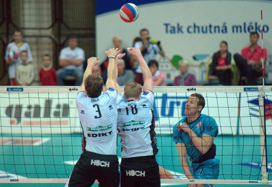 Budějovičtí volejbalisté postoupili přes Příbram do semifinále play off